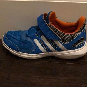Adidas blue Velcro sneakers. Good used condition
